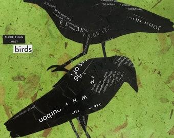 More Than Just Birds - original paper collage - original art - bird art