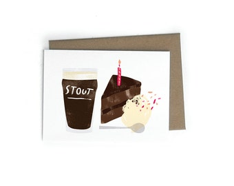 Beer and Cake A6 Single Card