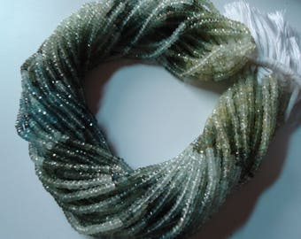 Gorgeous Natural Moss Aquamarine Micro Faceted  Rondelle Beads AAA Quality Size 3  mm Length 13'' Inch 1 String.