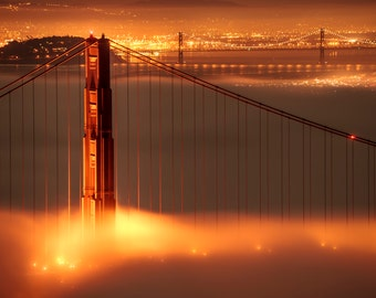 Red Gate - Golden Gate Bridge, San Francisco - Wallpaper