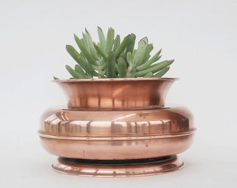 Copper Home Decor, Copper Planter Pot For Succulents, Vase For Centerpiece,  Vintage Wedding