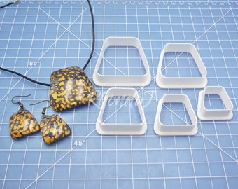 Cutter Set #9 / Polymer Clay Cutter Set / Clay Cutters / Shape Cutters / Clay Shape Tools