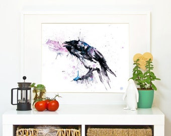 RAVEN *Limited Edition Giclée Print on Watercolour Paper - 300gsm.