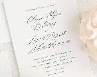 Claire Wedding Invitation - Deposit