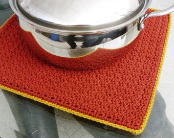 Extra Large Trivet - Extra Large Pot Holder - Extra Large Potholder - Thick Cotton Trivet - Thick Cotton Pot Holder - Thick Cotton Potholder