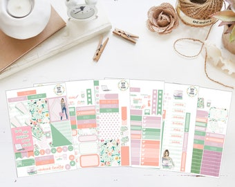 25% OFF SALE (no coupon needed) - Never Stop - Deluxe Kit - Vertical Planner Stickers (Weekly Sticker Kit) - Matte, Kiss Cut