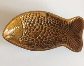 Baking form, ceramic baking mould, fish baking form refractory, vintage