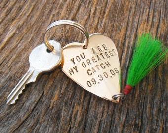 Boyfriend Gift Boyfriend Keychain Husband Gift Husband Key Chain Fishing Keychain for Men Gift Valentine Gift Boyfriend Girlfriend Keychain