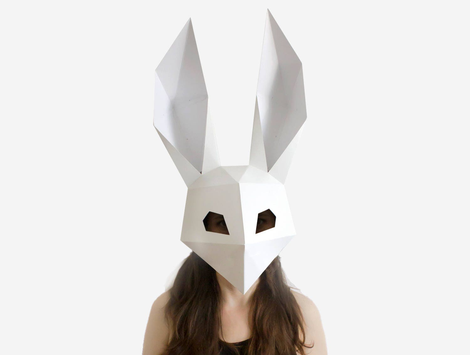 Rabbit Mask Low Poly Halloween Costume DIY