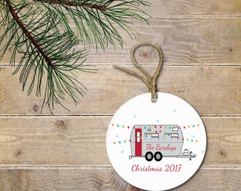 Personalized Christmas Ornament, Christmas Ornament, Camper, Christmas Lights, Personalized Christmas Ornament, Christmas Ornaments
