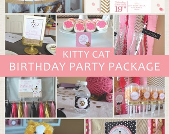 Kitty Cat Party Package | Kitten Birthday Party | Cat Birthday Party | Cat Party Decorations | Kitten Party Decorations | Kitty Cat Decor