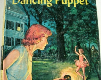 Nancy Drew, The Clue of the Dancing Puppet, Carolyn Keene, Vintage 1960s, 1962 Book