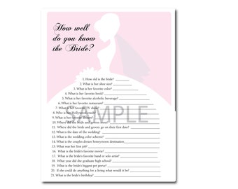 4 Light Pink Bridal Shower Printable Games:What's in your Purse Game, Word Scramble, Bridal Advice, ect