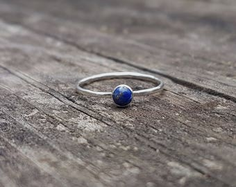 Lapis Lazuli & Eco Sterling Silver Ring