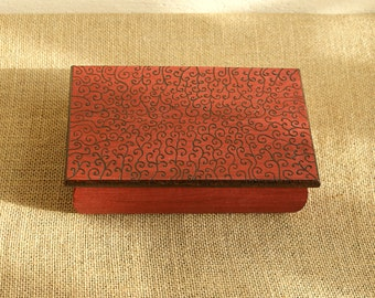 made to order, wooden box, personalized box, custom box, pyrography box, woodburned box, rustic box