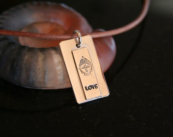 Buddha & Love -- Sterling Silver Buddha with Love