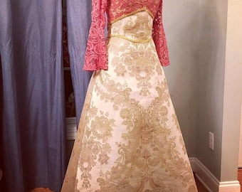 Pink Gown, Pink Prom Dress, Custom