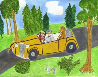 Hartleys Sunday drive. Limited edition print by Vivienne Strauss.