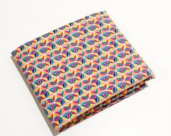 Mini Colorful Geo Fabric - Multi Color Quilting Fabric - Blue, Yellow, Orange, Red 100% Cotton by the Yard