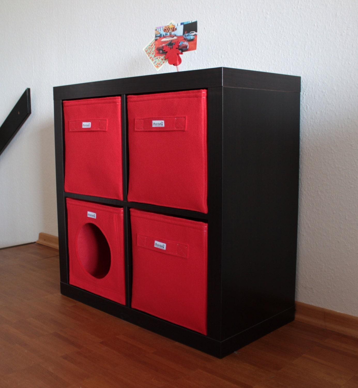 roter regalkorb aus filz passend f r ikea expedit kallax und. Black Bedroom Furniture Sets. Home Design Ideas