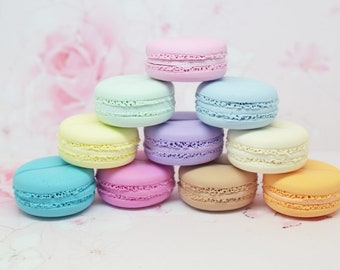 SETS of 6 place cards macarons customizable colors