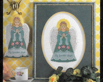 Bucilla Guardian Angel Counted Cross Stitch Kit #41122 Picture Or Ornament.
