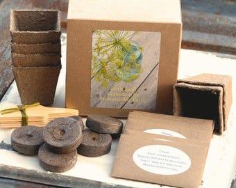 Indoor Garden Kit, DIY Herb Garden, Heirloom Herbs- 6 Varieties of Herb Seed, Great Mother's Day Gift or Hostess Gift, Garden Gift Set