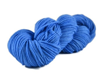 Worsted Yarn, Superwash Merino yarn, hand dyed, worsted weight yarn, wool yarn, 100% Superwash Merino, worsted merino, blue - Superior