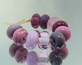 Lady Mix, Lampwork Spacer Beads, SRA, UK