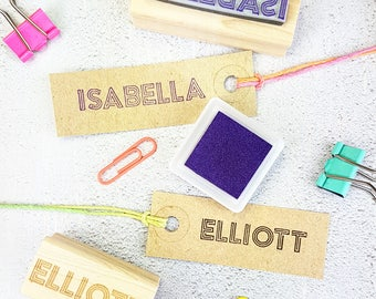 Personalised First Name Neon Light Rubber Stamps - Personalized Stamp - Custom Stamper - Stocking Stuffer Filler - Teen Gift - Craft