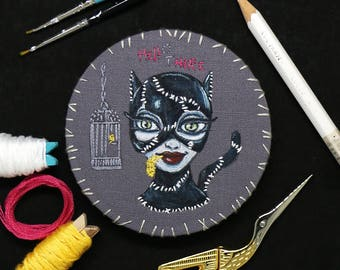 Hello There – Original Embroidery art