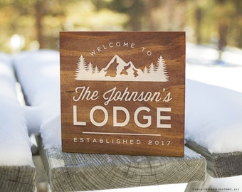Custom Cabin Signs, Cabin Signs, Cabin Decor, Cabin Wall Decor, Lodge Sign, Lodge Decor, Rustic Signs, Rustic Wall Decor (GP1100)