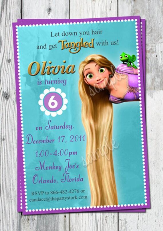 Tangled invitation tangled birthday rapunzel invitation filmwisefo Images