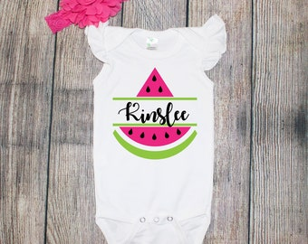 Personalized Watermelon Onesie/Toddler Tee