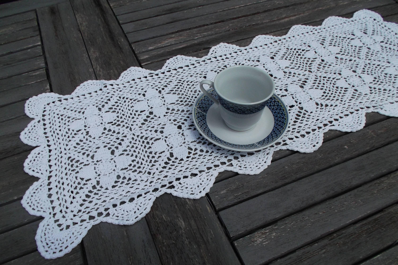 großen Deckchen häkeln rechteckige Deckchen häkeln handmade