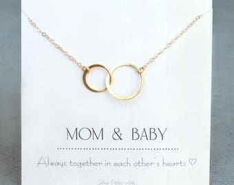 Mom and Baby Necklace, Baby Shower Gift For Mom, Gift For Mom To Be, Necklace For New Mom, Push Present For Mom, Push Present Jewelry