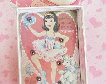 Handcrafted Valentine Game Box With A Ballerina Theme