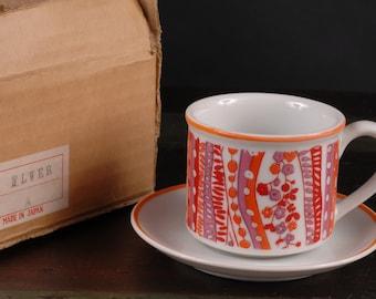 Takahashi, San Francisco, Set of Six Cups and Saucers, Japan