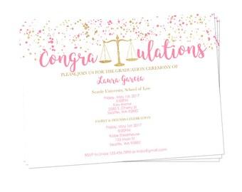 Handmade graduation invitation Etsy