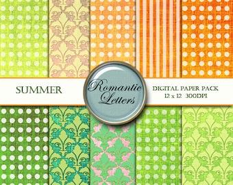 Digital paper pack linen texture fabric digital scrapbook background linen fabric paper instant download digital scrapbook background