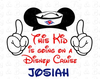 This Kid is Going on a Disney Cruise Mickey Mouse Hands Shirt Iron On Transfer