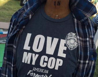 LOVE MY COP tee by American Farmgirl