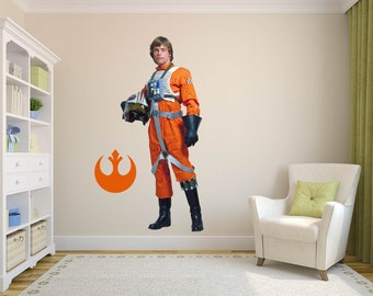 luke Decal, Star Wars Art Decor, Star Wars Decal, skywalker Decal, Fathead Mural, Star Wars Kid's Room Designs, Jedi Decal, luke skywalker