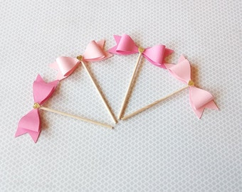 Pink and Gold Cupcake topper | Bridal shower decorations | baby shower decorations | Cupcake and dessert Toppers
