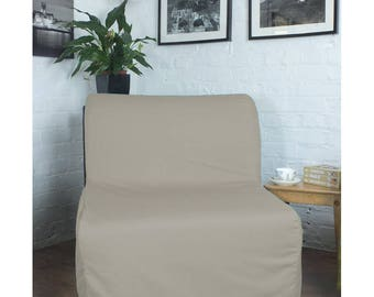 Slipcover to fit the Ikea Lycksele Chair or Double sofa bed in Cotton, many Colours