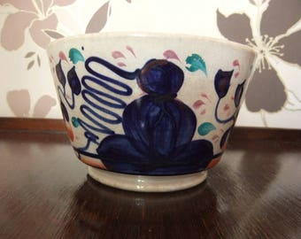 Polychrome 19th century antique Japanese hand painted and glazed Imari Bowl