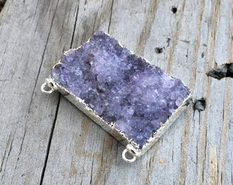 Amethyst Druzy Cabochon Jewelry Supplies