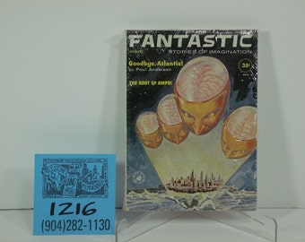 1960's August- Fantastic Stories Pulp Paperback Book