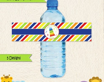 Music Party Waterproof Water Bottle Labels • Music Party • Drum • Xylophone • Maracas • First Birthday • Toddler Birthday • Stickers • 014C3