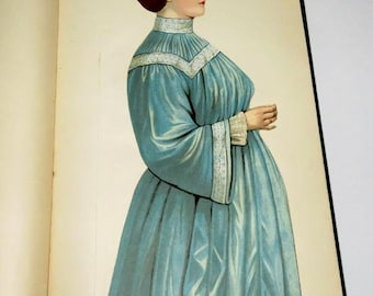 1909 ANTIQUE BOOK, WOMEN,health,pregnancy,sports,childcare,beauty, marriage and courtship,Victorian advice,color illustrations,fold out body